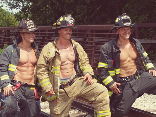Firefighters from Carmel, Fishers, Fishers, Noblesville and Zionsville posed in the Hamilton County Firefighter Calendar.