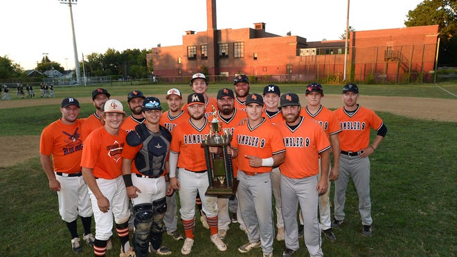 Rambler 9 won the Glenwood League championship series Thursday at Ainsworth Field by defeating the Erie Outlaws 14-2.