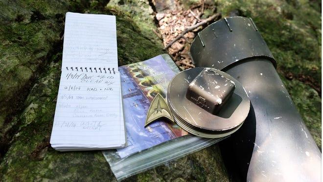 A geocache hidden at JMU's arboretum in Harrisonburg.
