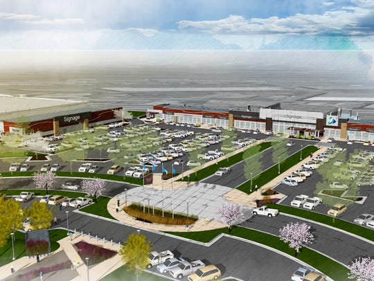 An updated rendering of the plans for the southwest