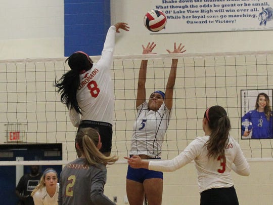 Lake View High School's Veronica Diaz (5) was named second-team all-District 4-5A volleyball.