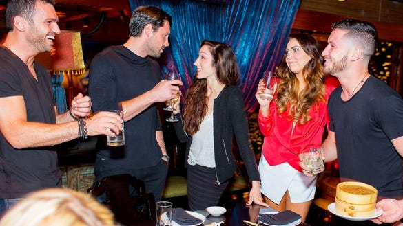 Dancing With The Stars Cast toasting to Meryl Davis and Maksim Chmerkovskiy at TAO Downtown