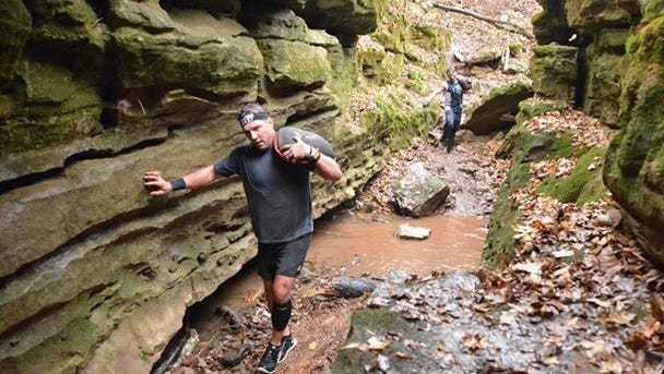 """The Spartan Race is a 5½ mile """"sprint"""" consisting of off-road running with more than 23 obstacles. Rain, wind and mud made for an even more challenging race."""