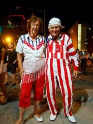 Wanda Findley and John Kirsch were the patriotic dancing