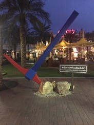 Arizona Lottery placed five giant pickaxes across the
