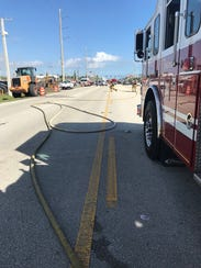 A gas leak was closing southbound lanes on U.S. 1 in