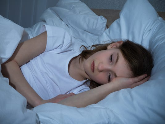 Girl Having Sleeplessness Night