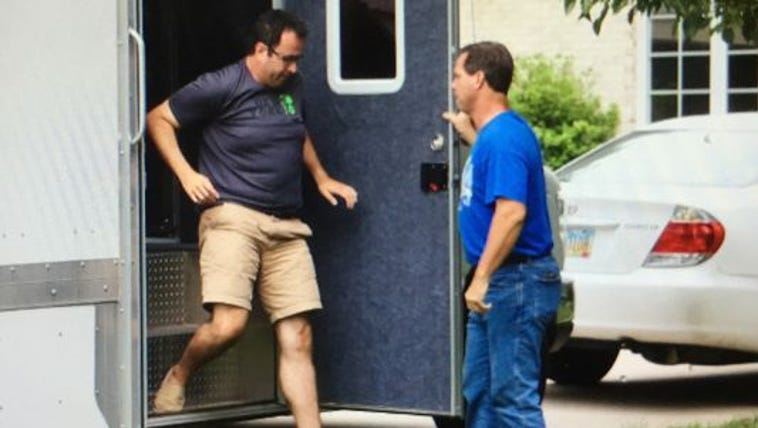 Jared Fogle, left, who rose to fame as the Subway pitchman,