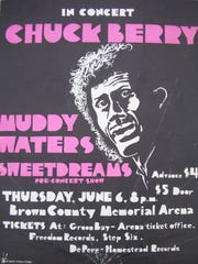Steve Sharp of Watertown shared this poster from Chuck Berry's 1974 concert with Muddy Waters at Brown County Veterans Memorial Arena. Advance ticket price: $4.