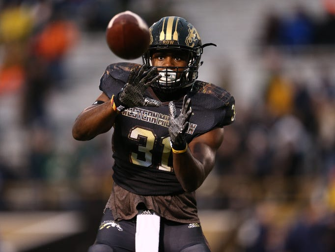 Jarvion Franklin (31) of the Western Michigan Broncos