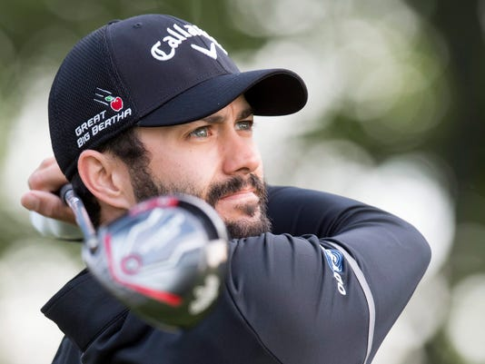 Adam Hadwin of Canada watches a drive during the Pro Am for the Canadian  Open golf 24ecb03e923f