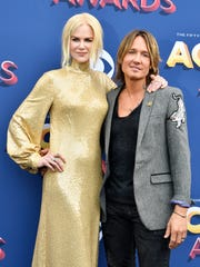 Nicole Kidman, left, and Keith Urban on the red carpet during the 53rd Academy of Country Music Awards at the MGM Grand Garden Arena Sunday, April 15, 2018, in Las Vegas.