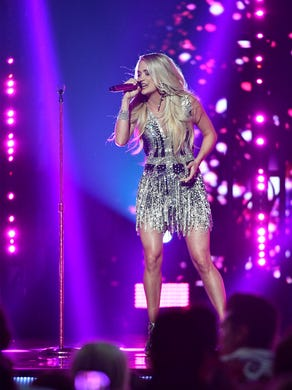April 15, 2018; Las Vegas, NV, USA; Carrie Underwood