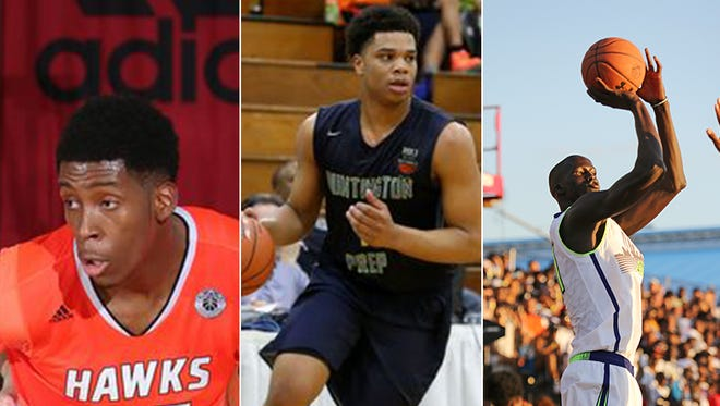 IU 2016 recruiting targets (from left): De'Ron Davis, Miles Bridges and Thon Maker.