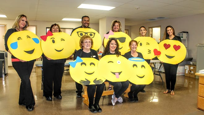 The Otero County Clerk's Office dressed as emojis as part of their Halloween theme this year.