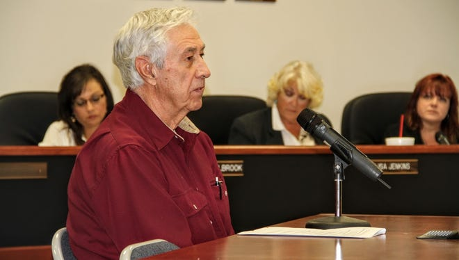 Timberon resident Arden Schug went before county commissioners at their regular commission meeting Thursday, Nov. 10 to discuss thinning certain areas in Timberon.
