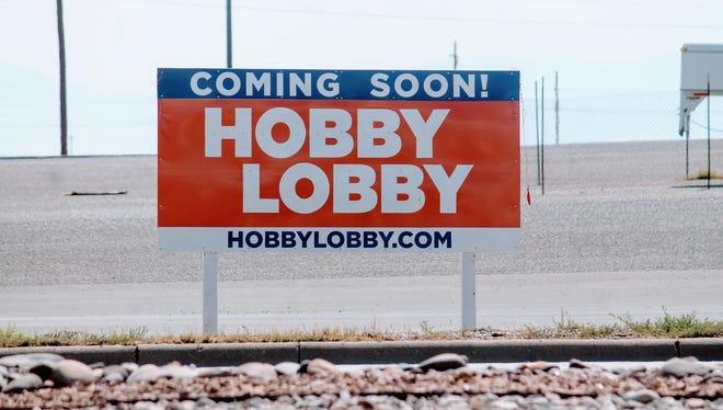 Construction on Alamogordo's Hobby Lobby has begun at White Sands Mall.