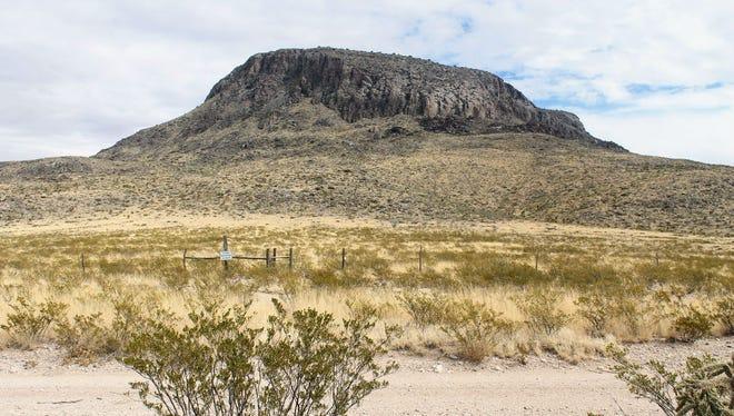 Alamo Mountain is located in the Cornudas Mountain range in Otero County.