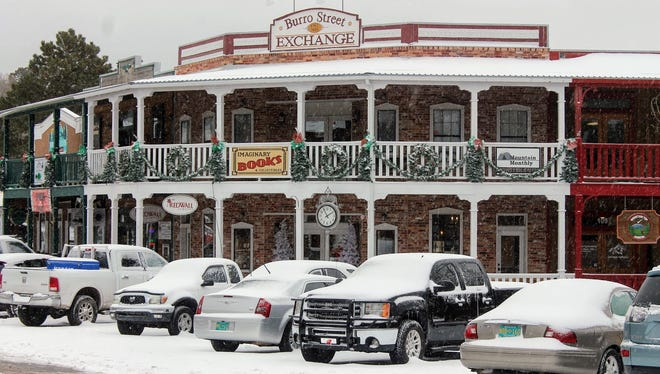 2018 file photo of snow blanketing historic downtown Cloudcroft, NM.