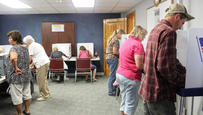 In this file photo, Otero County residents cast their ballot on at the Otero County Administration Building, 1101 New York Ave. Room. 101.