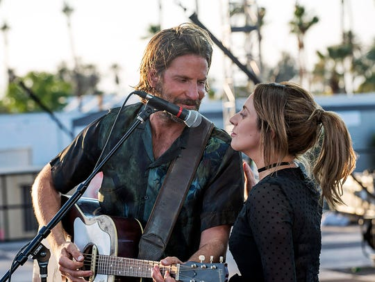 Bradley Cooper plays a country rocker and Lady Gaga
