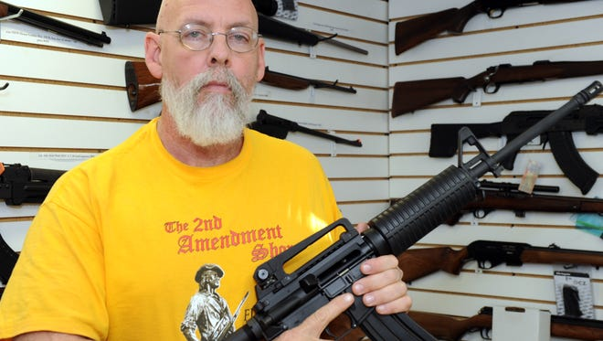 Jim Hirschberg is owner of the 2nd Amendment Shop in Lohrville, Iowa.