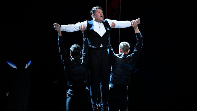 James Corden performs his opening number   on  the Tony Awards, which drew its biggest audience since 2001.