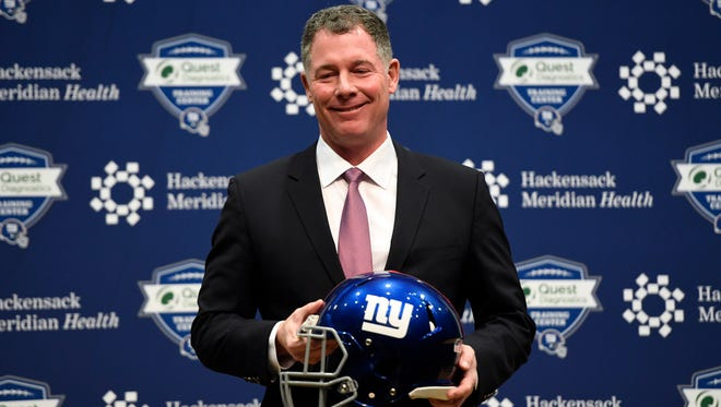 Pat Shurmur is the new head coach for the New York Giants. Shurmur held his first press conference in East Rutherford, NJ on Friday, January 26, 2018.