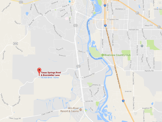 A 5-acre fire was burning Saturday off Texas Springs