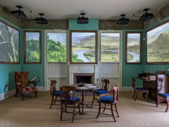A room in the Thomas Cole National Historic Site.