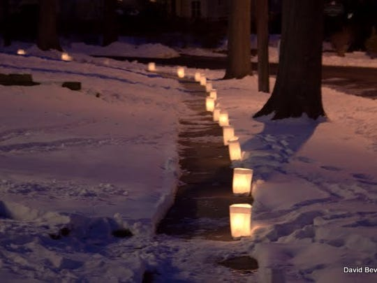 Lights along a sidewalk for the Netherwood Heights