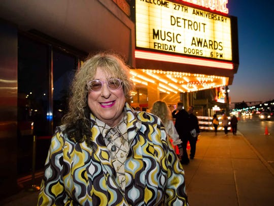 Distinguished-achievement award recipient Allee Willis at the Detroit Music Awards on May 4, 2018.