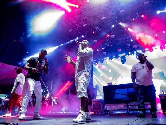 Closing act Wu-Tang Clan performs on the main stage