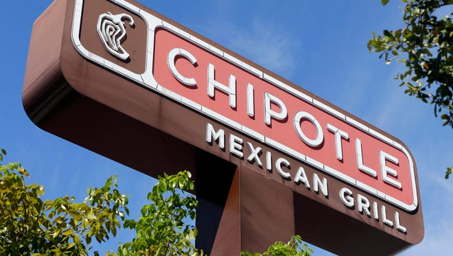 This Monday, Feb. 8, 2016, file photo shows the sign of a Chipotle restaurant in Hialeah, Fla.