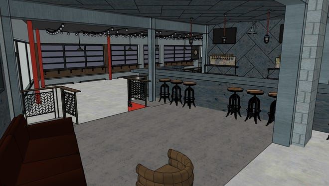 A rendering of what the new West Side Brewing will look like.