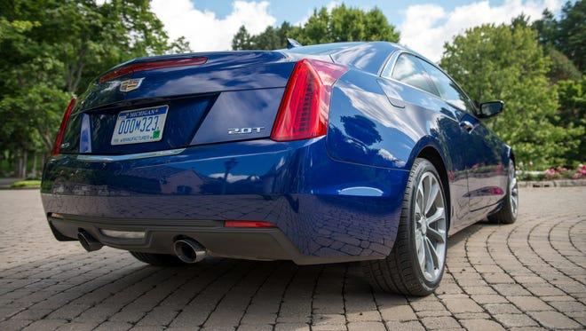 The 2015 Cadillac ATS Coupe offers a 2.0L turbocharged four-cylinder or a 3.6L six-cylinder engine.
