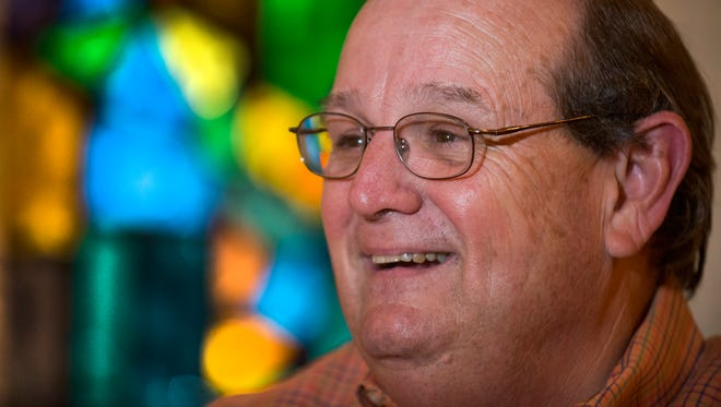 Tim Thompson, the senior pastor of Frazer United Methodist Church, discusses his retirement plans at the church in Montgomery, Ala. on Tuesday February 2, 2016.
