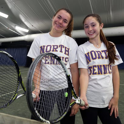 Clarkstown North's Martyna Czarnik, left, and Sydney