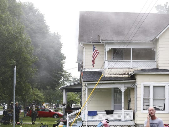 A fire broke out in a Lake Street home bedroom in Elmira