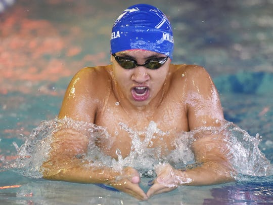 Zach Valenzuela developed into a top-flight breaststroker, taking third at the state meet.