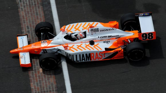 Dan Wheldon drove this Honda to victory in the 2011