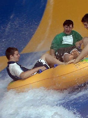 """2010: People ride the """"Tornado"""" attraction at Six Flags Great Adventure's Hurricane Harbor in Jackson Township."""