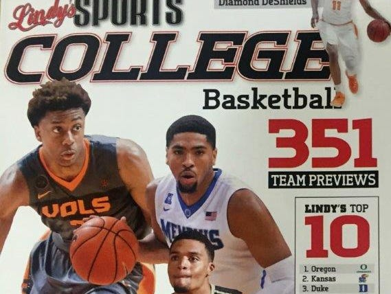 Tennessee's Robert Hubbs III and Diamond DeShields along with Vanderbilt's Jeff Roberson and Memphis' Dedric Lawson are featured on the cover of Lindy's Sports College Basketball magazine.
