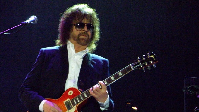 Jeff Lynne of ELO performs on stage for BBC Radio 2 Live In The Park at Hyde Park on Sept. 14, 2014, in London.