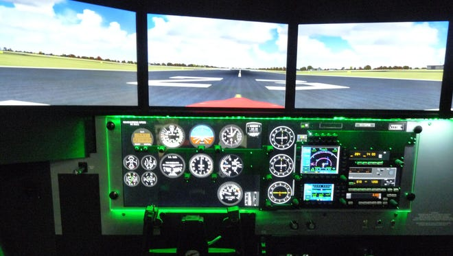 The Central Campus pilot training program recently acquired a state-of-the-art flight simulator. Controls can be set for any size aircraft and for any airport's landing strip in the United States.