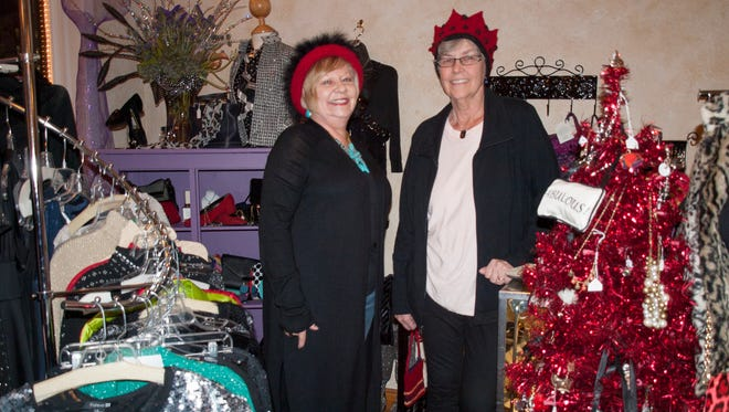 Susan Stecker (left), and her sister-in-law, Jean Stecker, inside Susan Stecker's Susan's Second Style consignment shop at 304 N. Ninth St. in Manitowoc.