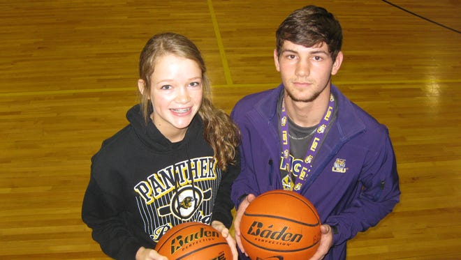 Fairview siblings and all-state athletes Callie (left) and Brennan Maddox look to bring home a state title in both girls and boys basketball this year. Callie, a sophomore, looks to lead the Lady Panthers to their ninth straight title, while Brennan, a junior, hopes to lead the Panthers to their first state championship.