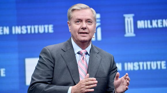 Sen. Lindsey Graham, R-S.C., speaks during 2016 Milken