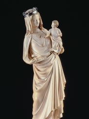 Virgin and Child, about 1260–80, Paris, France, ivory