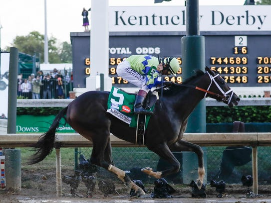 John Velazquez rides Always Dreaming to victory in